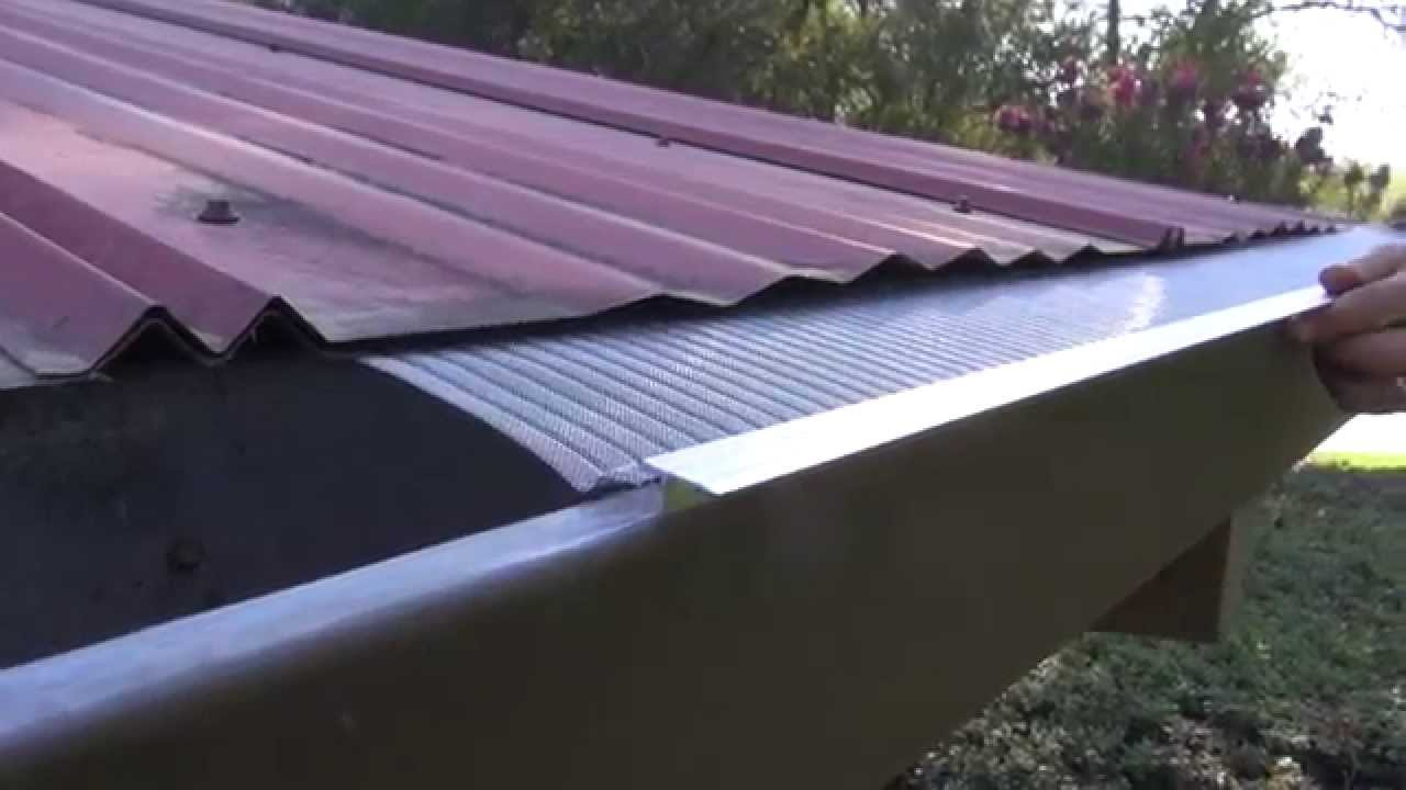 Easyon gutterguard installing on corrugated metal roof youtube solutioingenieria Gallery