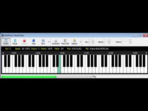 Virgoun ⚖️ Bukti(REFF Lirik Non Official) | dari Not Angka | Pianika Cover / Midi Piano 🎹