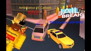 Ambulance Vs Camaro In Race| Jailbreak| Roblox