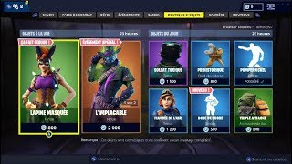 "FORTNITE Shop of October 28 Skins ""LAPINE MASQUEE"" - ""The IMPLERELENT""!"
