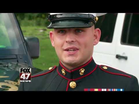 Ashes of Marine dog buried at Michigan War Dog Memorial