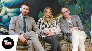 Ask Marvel: Chris Evans, Elizabeth Olsen, Paul Bettany — Marvel's Captain America: Civil War