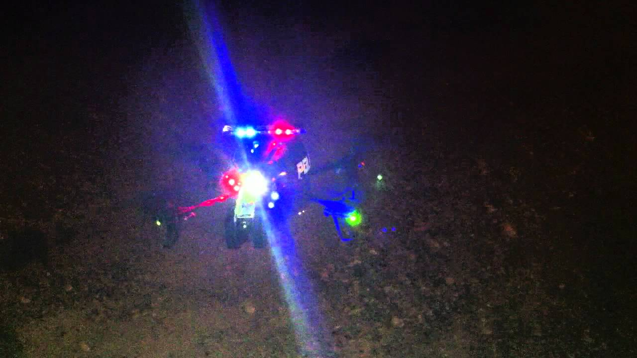AR Drone POLICE MOD Finished DX8 Night Flight