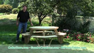 Treated Pine Octagon Walk-in Picnic Table From Cedarstore.com
