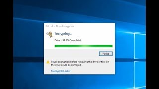BitLocker drive encryption  - how to lock and unlock volume