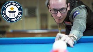 Florian 'Venom Trickshots' Kohler takes on pool jump shot speed challenges - Guinness World Records