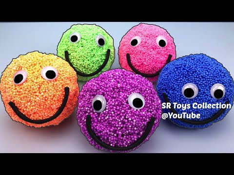 Thumbnail: Learn Colors Playfoam Happy Smiley Face Surprise Toys Peppa Pig Sofia the First Toy Story Spiderman