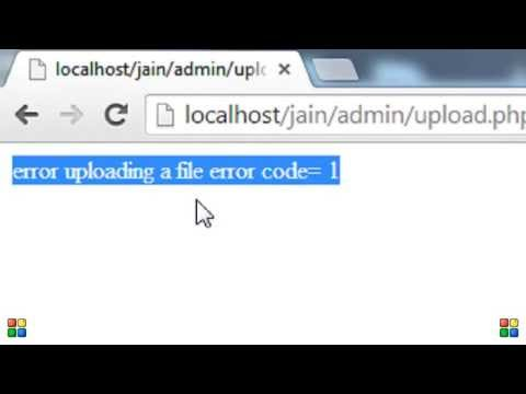 File upload error code 1 in PHP