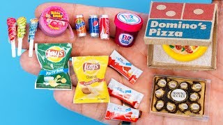36 DIY Barbie MINIATURE IDEAS ~ Mini Potato Chips, Chocolate Kinder,  Hubba Bubba and more!