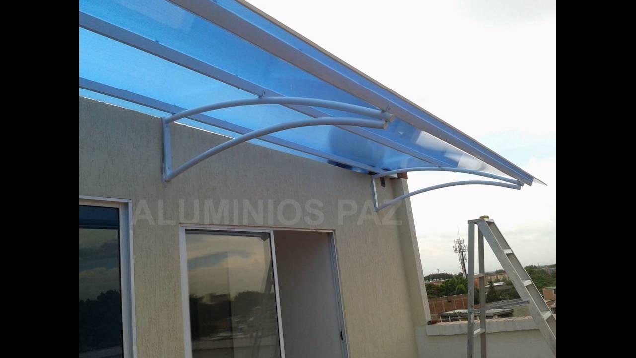 Pergolas y cubiertas en aluminio con policarbonato y for Pergola policarbonato