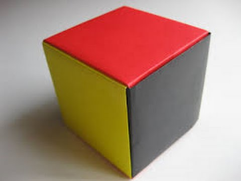How to make paper cube easy way - YouTube
