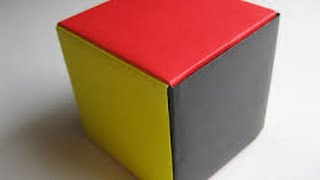 How to make paper cube easy way