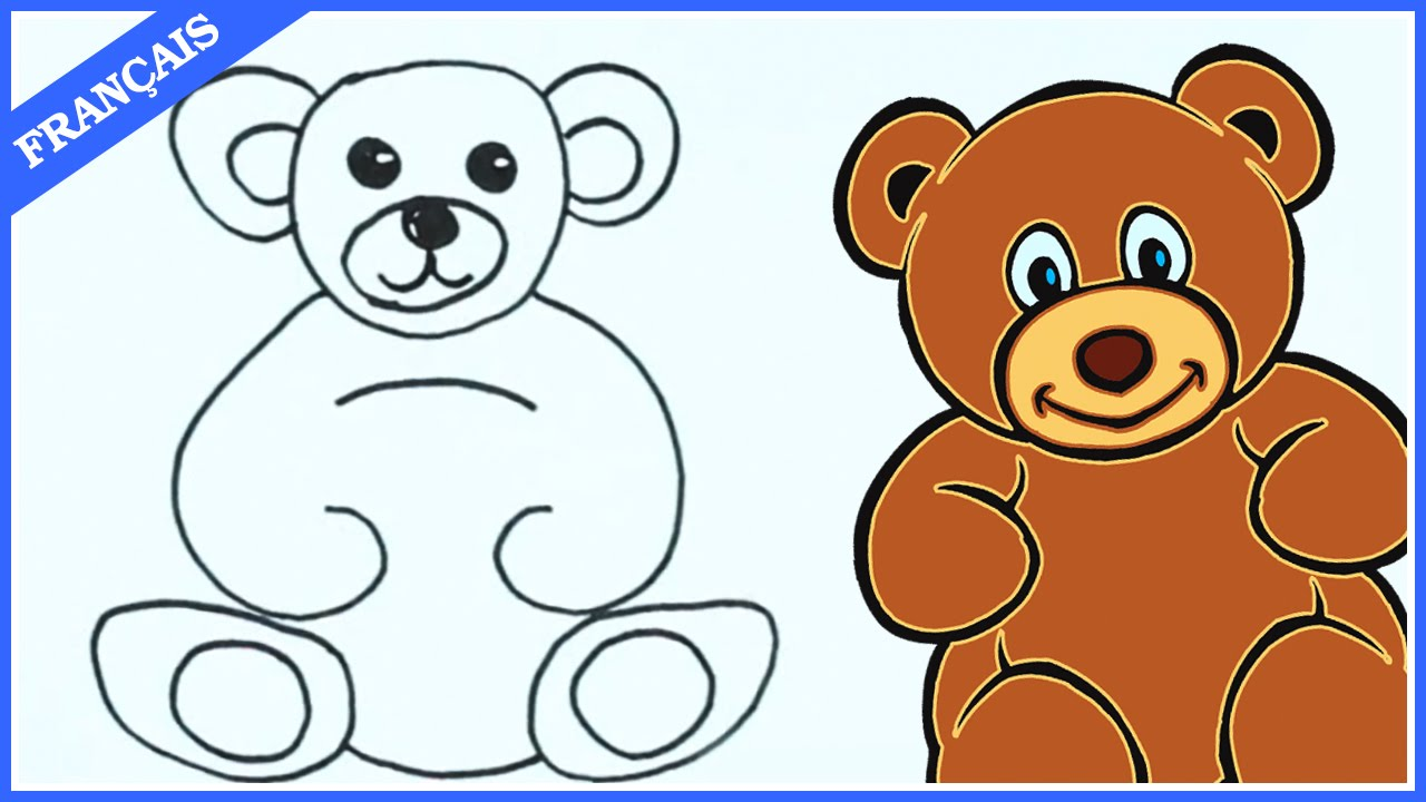 Comment dessiner un nounours learn how to draw teddy in french hooplakidz fran ais youtube - Dessins de nounours ...