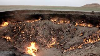 Flaming Gas Crater (Day) / Turkmenistan, Darvaza