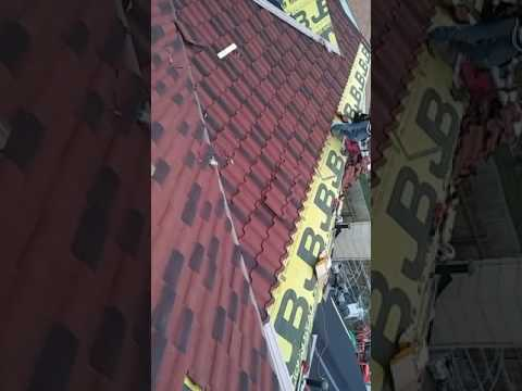 Decra villa tile installation