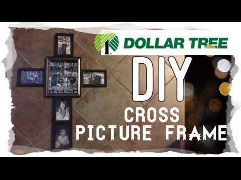 diy dollar tree cross picture frame