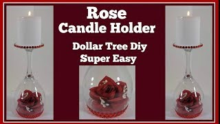 Valentine Candle Holder 🌹 Dollar Tree Diy Super Easy