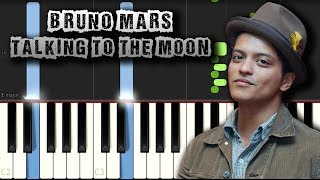 Bruno Mars - Talking to the Moon - Piano Tutorial Synthesia (Download MIDI)