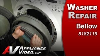 Washer Front load Bellow Diagnostic & Repair, leaking washer Whirlpool, Maytag, Sears, # 8182119