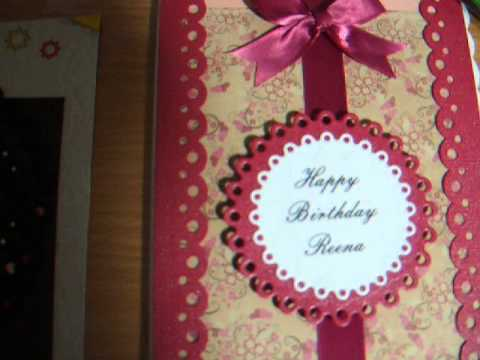 HAND MADE BIRTHDAY CARD NAOMIS MAKING VIDEO 20 NOV 16TH 2012