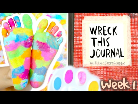 WRECK THIS JOURNAL 1 : Stranger Things, Foot Painting, & Washi Tape - SoCraftastic