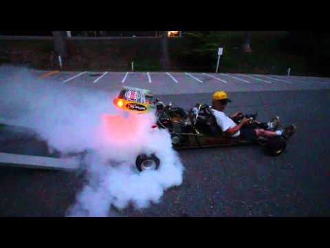 this turbocharged go kart lays down a meaty burnout this turbocharged go kart lays down a meaty burnout