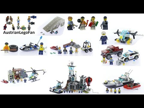 All Lego City Police / Prison Island Sets 2016 - Lego Speed Build Review