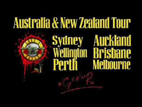 Guns N' Roses News:  GNR Accidentally Leaks/Revealed Australia & New Zealand Tours?