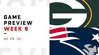 Green Bay Packers vs. New England Patriots | Week 9 Game Preview | NFL Playbook