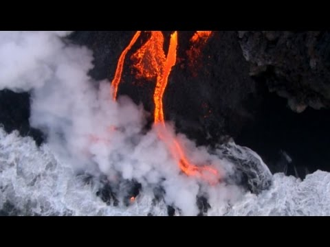 Lava from volcano in Hawaii reaches Pacific Ocean