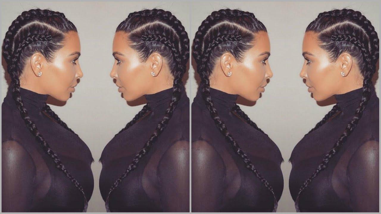 How To Kim Kardashian Braids Kim K Vlechten Jayshree