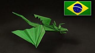 Origami: Dragão Cobra ( Marc Vigo ) - Instruções em português PT BR