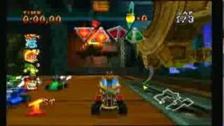 Crash Nitro Kart PS2 Gameplay