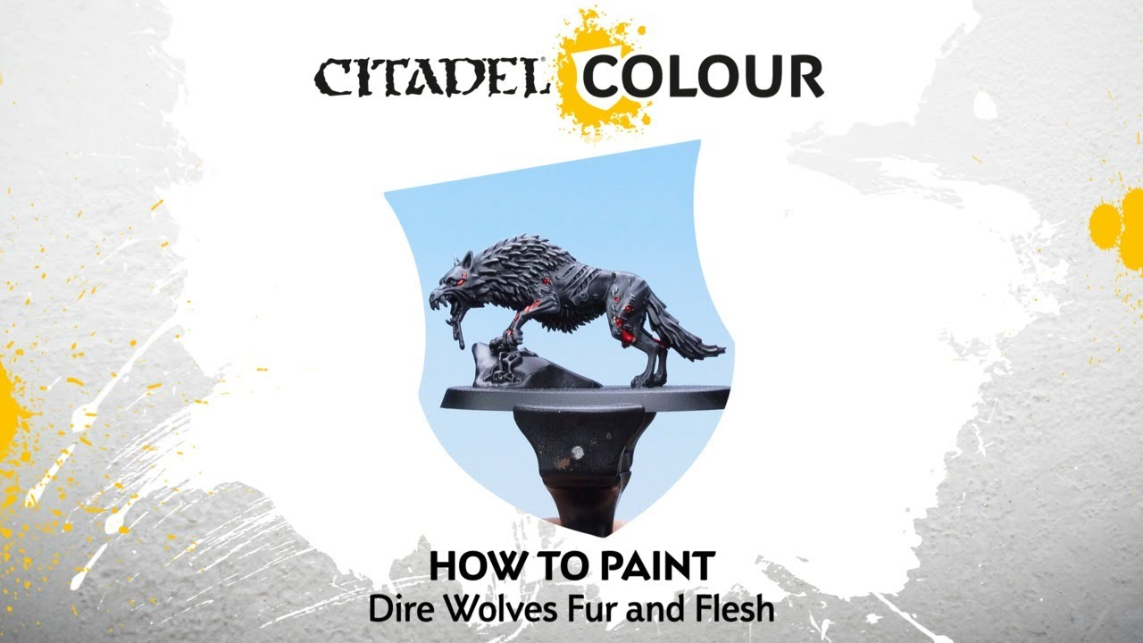 How to Paint Soulblight Gravelords: Dire Wolves Flesh and Fur