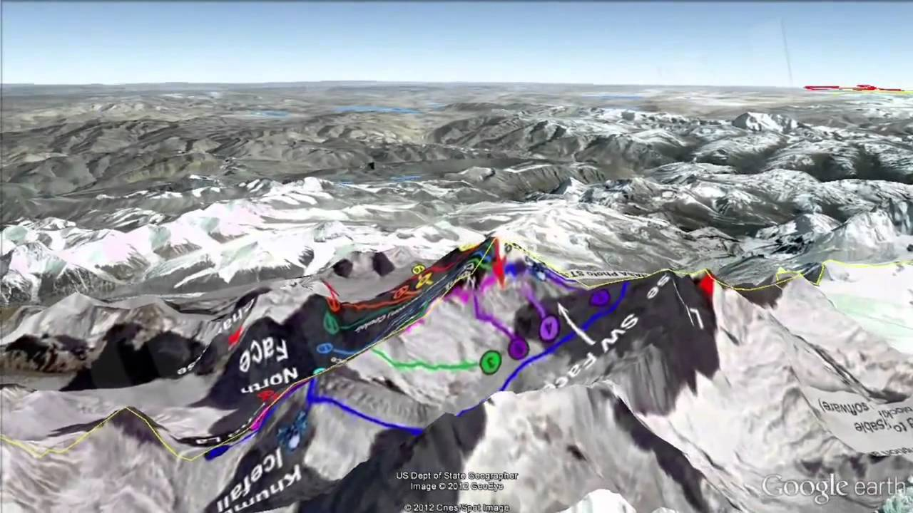Mount Everest 3D Climbing Routes [igeoNews] - YouTube
