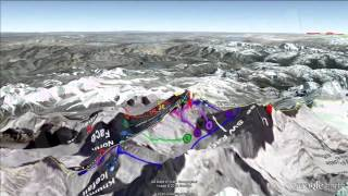 Mount Everest  3D Climbing Routes [igeoNews]