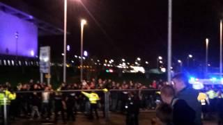 ajax fans escorted to celtic park