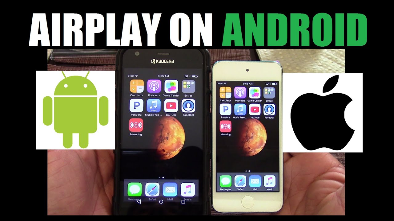 How to mirror Iphone Ipod Ipad to Android device via Airplay  #Smartphone #Android