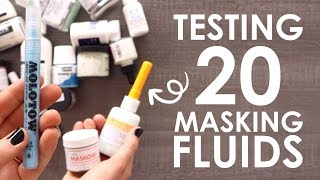 Testing 20 Artist Masking Fluids - WHICH IS THE BEST?!