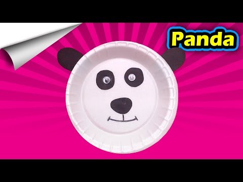 Panda with paper plates | DIY Paper crafts | How to make minute crafts for kids | easy origami
