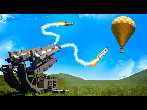 Insane GUIDED MISSILE LAUNCHER Destroys Everything That Flies in Brick Rigs Multiplayer! |