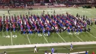Hays High and Lehman High Combined Bands Drill Teams