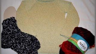 Мои работы. Свитер реглан спицами для мальчика 4х лет. Носочки..)) Обзор пряжи NAKO Ombre.