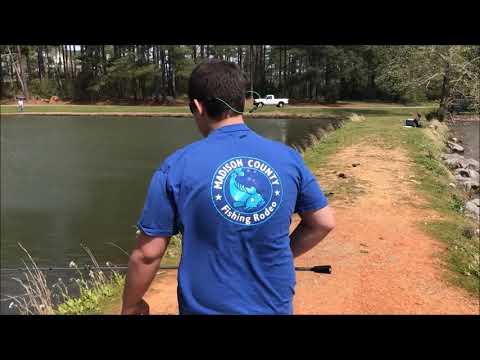 FISHING AT MADISON COUNTY LAKE: WINDY DAY FISHING