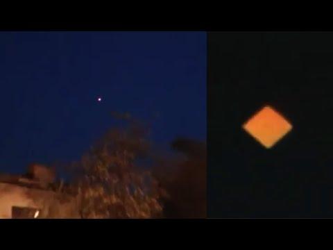 Orange Diamond UFO Over Moscow, Russia, 2019, UFO Sighting News.