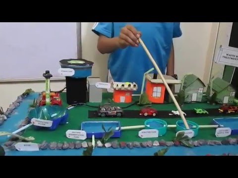 SCIENCE PROJECT WASTEWATER TREATMENT  BY PREM FOR SCHOOL EXHIBITION