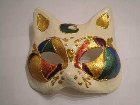 Tutorial decorazione su maschera di gatto in mdf youtube - Pagina colorazione maschera gatto ...