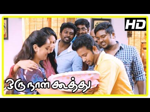 Oru Naal Koothu Tamil movie   scenes   Riythvika engaged   Dinesh comes to Nivetha's house