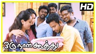 Oru Naal Koothu Tamil movie | scenes | Riythvika engaged | Dinesh comes to Nivetha's house