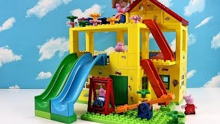 Peppa Pig Blocks Mega House Construction Set With Water Slide Lego Building #3